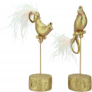 Polyresin bird Paris, with feathers, 2 motives, L1
